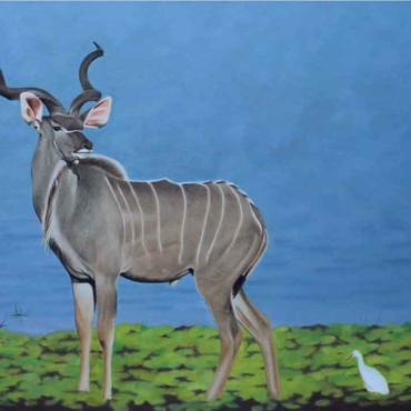 Oil on Canvas For Sale_Kudu