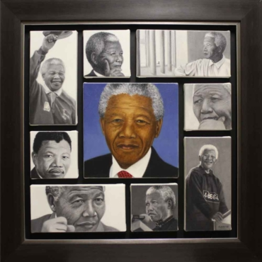 Oil on Canvas For Sale_Tribute to Madiba