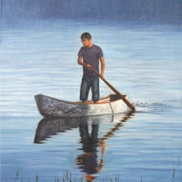 Oil on Canvas For Sale_Blue-waters