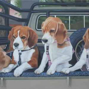 Commissioned Artwork_Beagles-for-Theresa-Painting