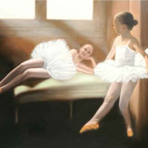 Oil on canvas Sold_Ballet-girls