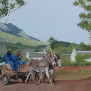 Oil on canvas Sold_Greyton-Transport