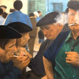 Oil on canvas Sold_Smokers