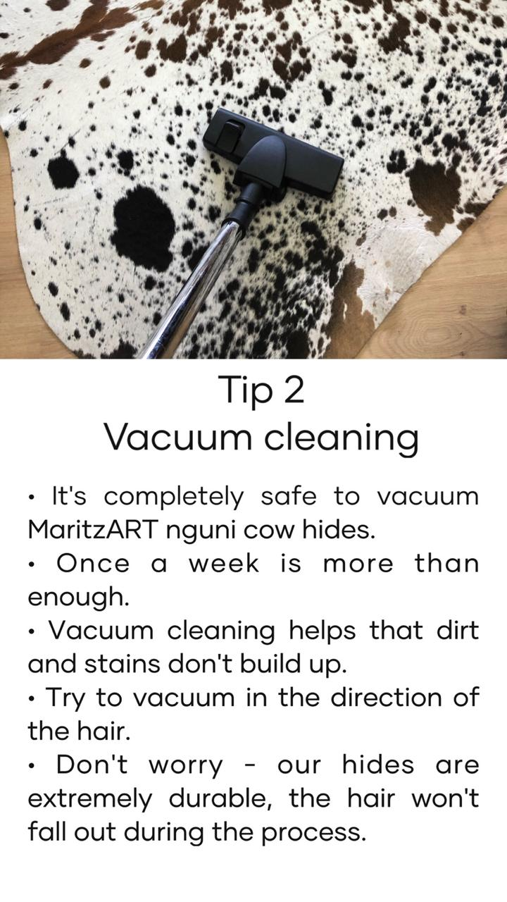 How-to-clean-my-nguni-hide/carpet-Tip 2- Vacuum cleaning
